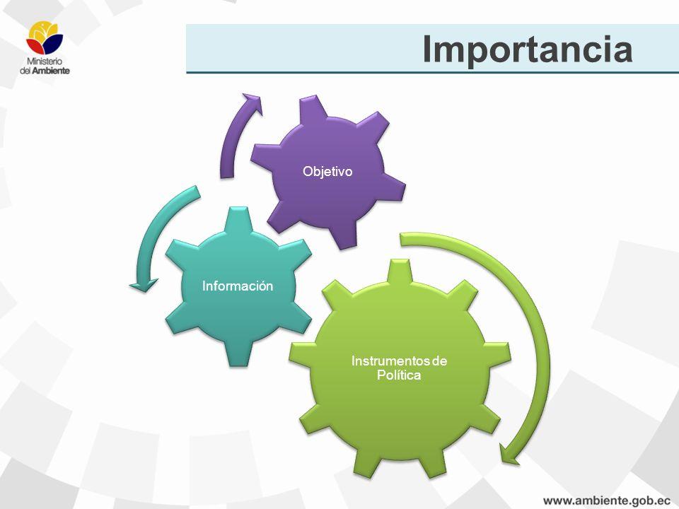 Importancia Instrumentos de Política Información Objetivo