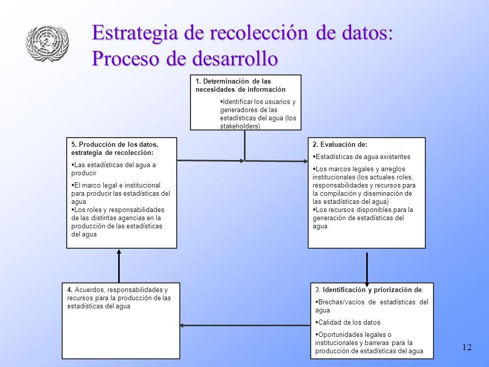 12 Estrategia de recolección de datos: Proceso de desarrollo 3.