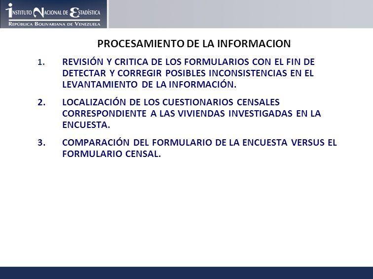 PROCESAMIENTO DE LA INFORMACION 1.