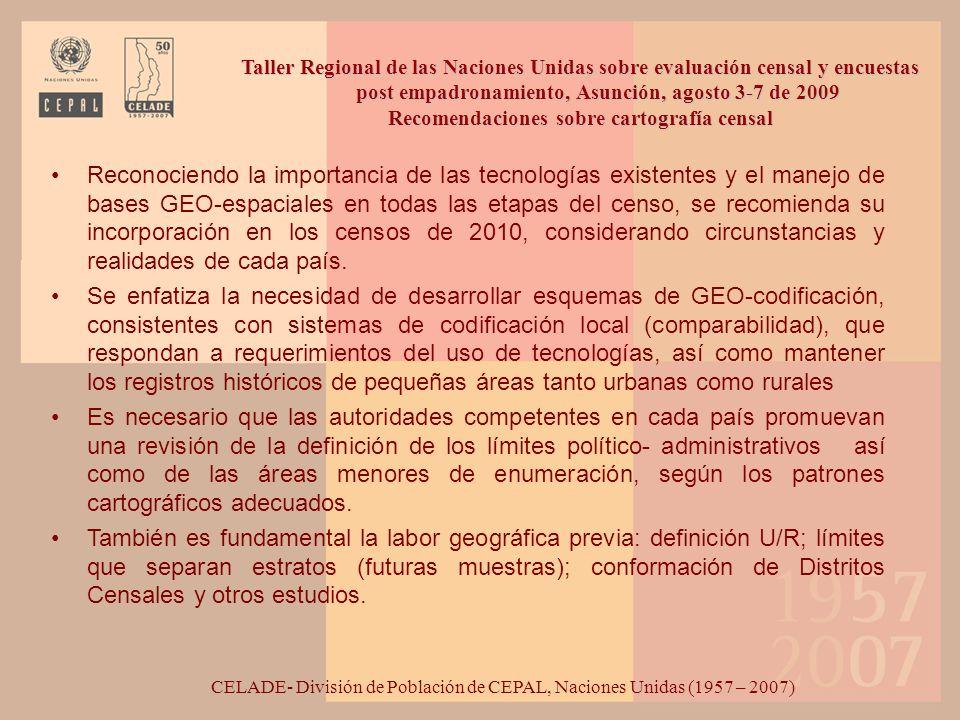 Recomendaciones en relación al proceso censal Garantizar la plena y efectiva participación de los pueblos indígenas y afrodescendientes en todas las etapas del proceso censal.