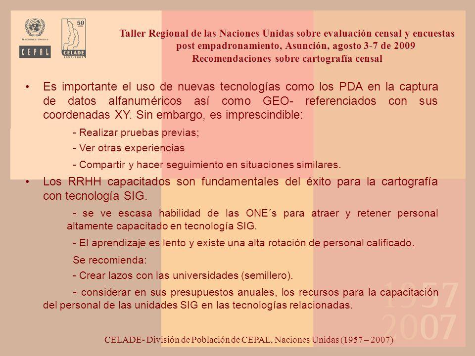 Taller Regional de las Naciones Unidas sobre evaluación censal y encuestas post empadronamiento, Asunción, agosto 3-7 de 2009 Recomendaciones sobre evaluación de cobertura censal América Latina: Porcentaje de omisión censal estimada según censo 1970-2000.