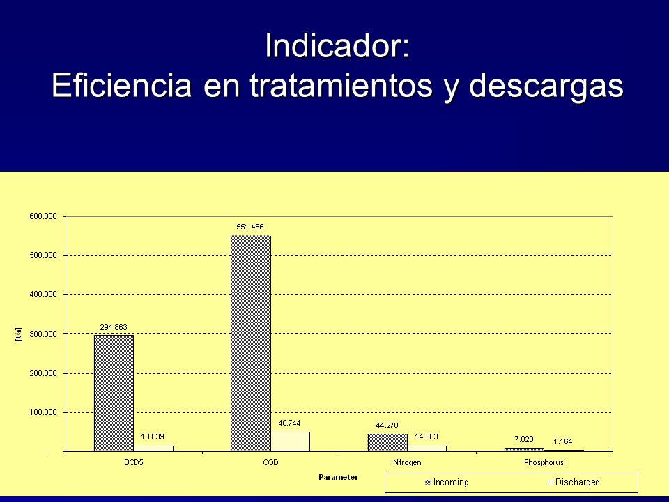 Indicador: Eficiencia en tratamientos y descargas