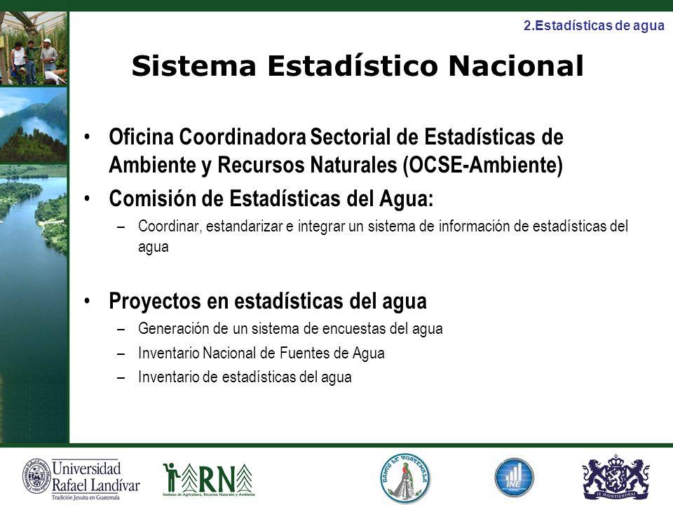 Sistema Estadístico Nacional Oficina Coordinadora Sectorial de Estadísticas de Ambiente y Recursos Naturales (OCSE-Ambiente) Comisión de Estadísticas