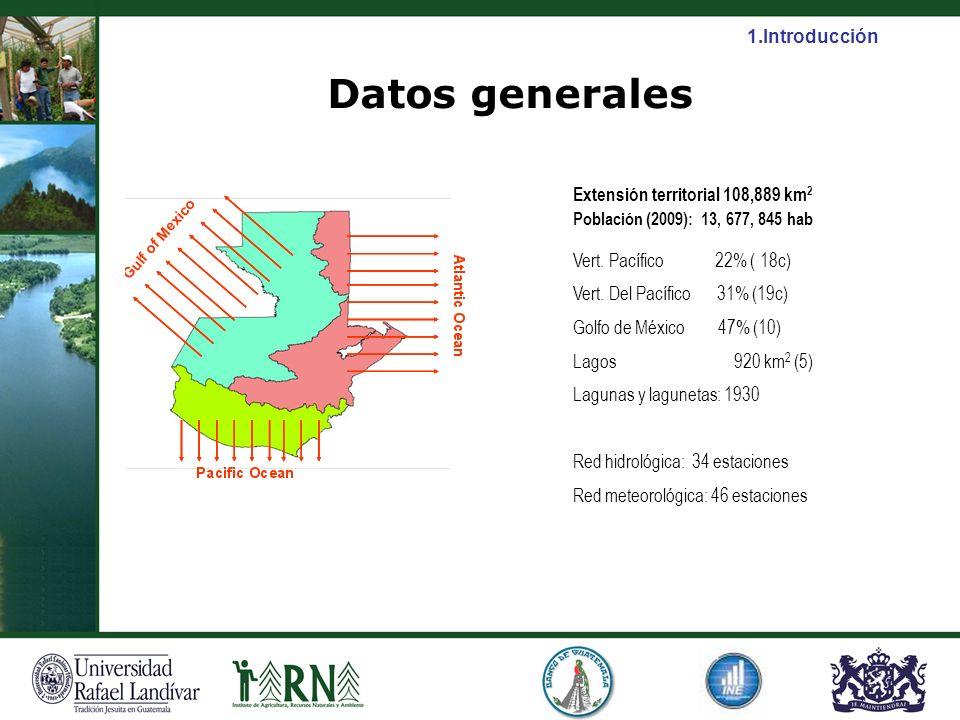 Datos generales Extensión territorial 108,889 km 2 Población (2009): 13, 677, 845 hab Vert. Pacífico 22% ( 18c) Vert. Del Pacífico 31% (19c) Golfo de