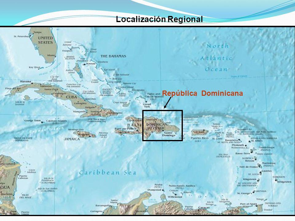 Localización Regional República Dominicana