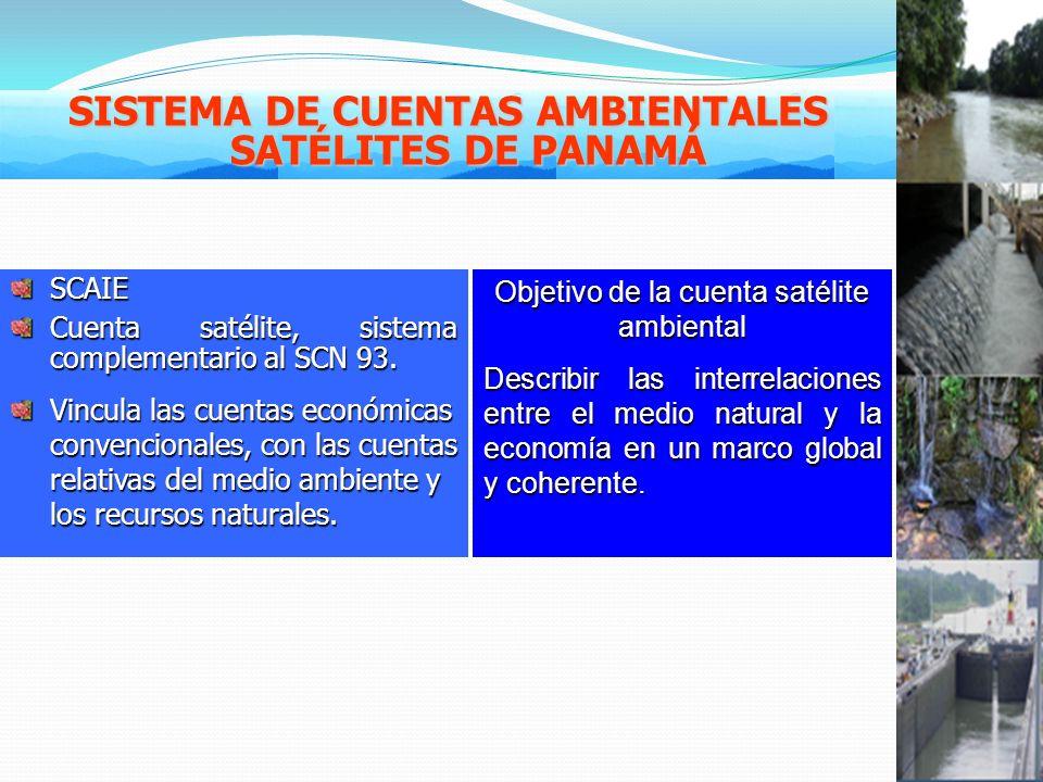 SCAIE Cuenta satélite, sistema complementario al SCN 93.