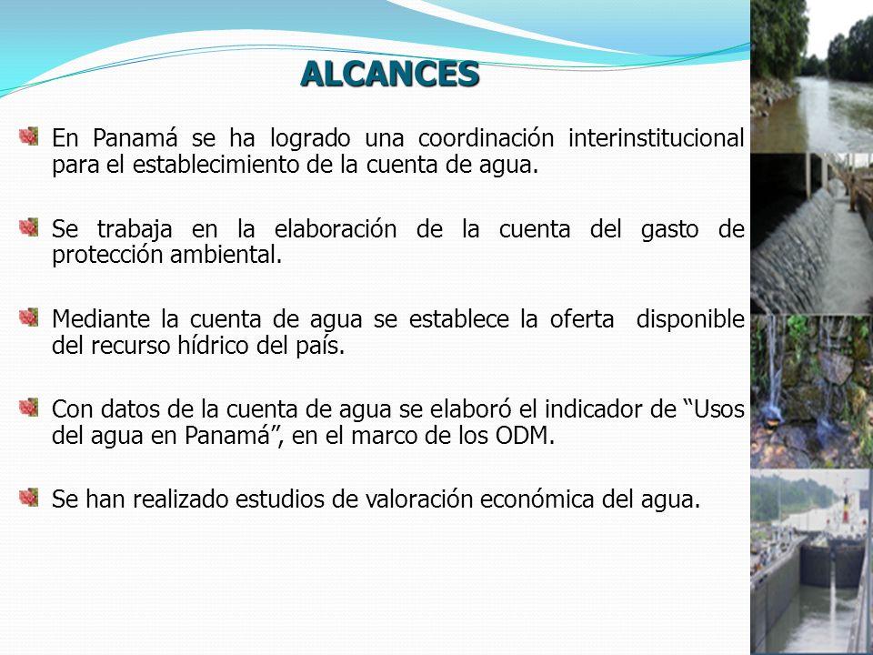 En Panamá se ha logrado una coordinación interinstitucional para el establecimiento de la cuenta de agua.