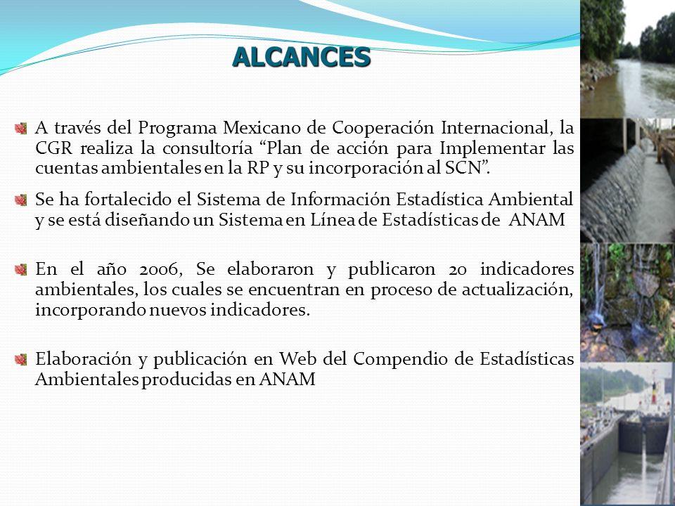 A través del Programa Mexicano de Cooperación Internacional, la CGR realiza la consultoría Plan de acción para Implementar las cuentas ambientales en la RP y su incorporación al SCN.