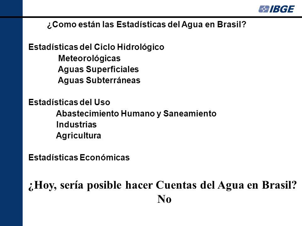 ¿Como están las Estadísticas del Agua en Brasil.