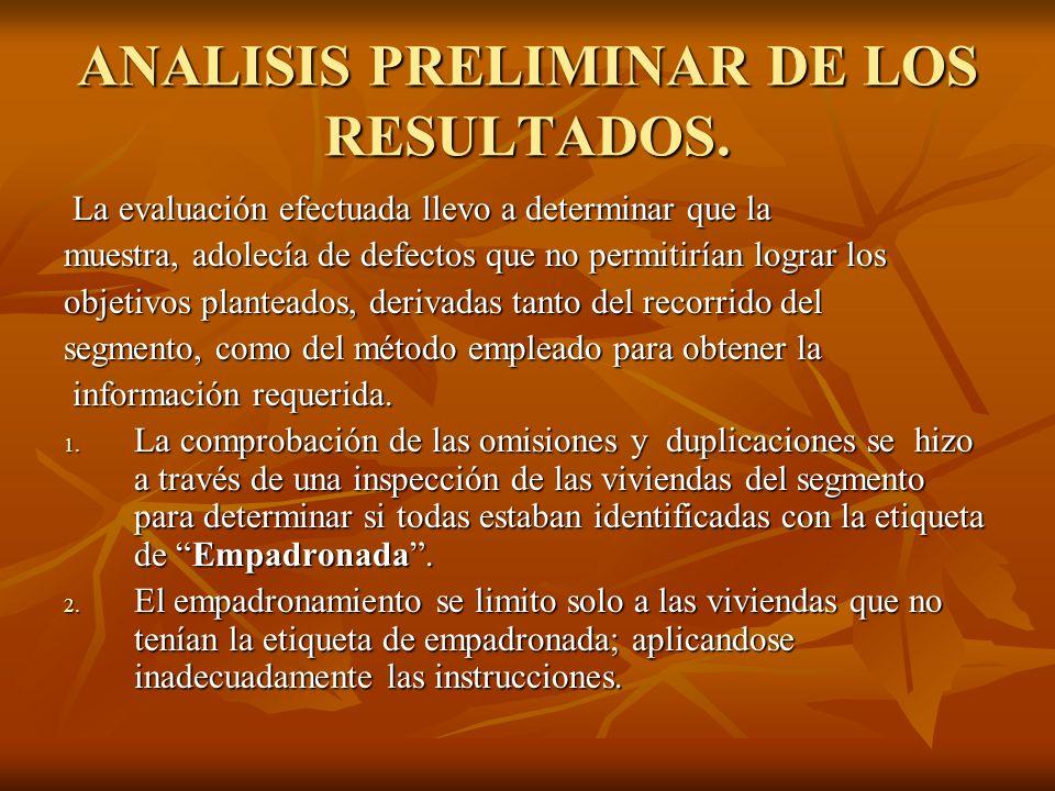 ANALISIS PRELIMINAR DE LOS RESULTADOS.3.