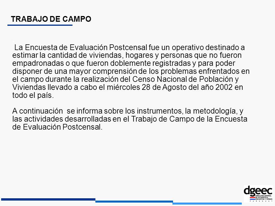 TRABAJO DE CAMPO. La Encuesta de Evaluación Postcensal fue un operativo destinado a estimar la cantidad de viviendas, hogares y personas que no fueron