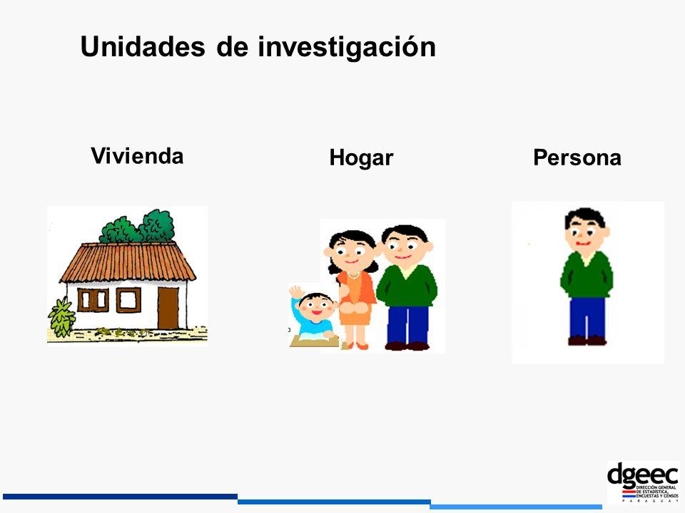 Unidades de investigación Vivienda HogarPersona