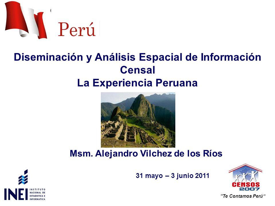 División Político Administrativa de Perú Diseminación hasta el Nivel de Centros Poblados Data Warehouse Mapa de la Pobreza a Nivel de Distrito Productos Censales (Formatos de Difusión) Estadísticas de usuarios CONTENIDO