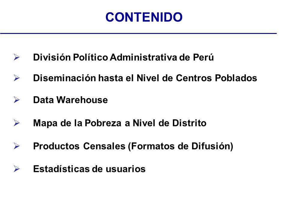 Departamento 24Provincias 195Distritos 1833CCPP 80000 División Político Administrativa del Perú País PerúDepartamento CuzcoProvincia CuzcoDistrito Santiago 137