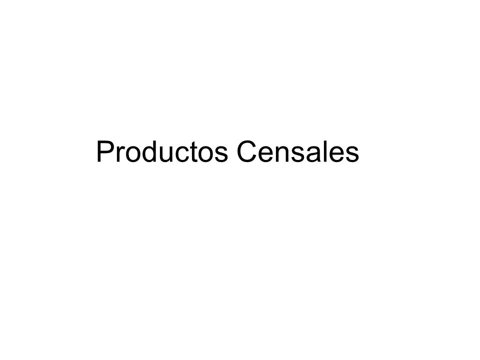 Productos Censales