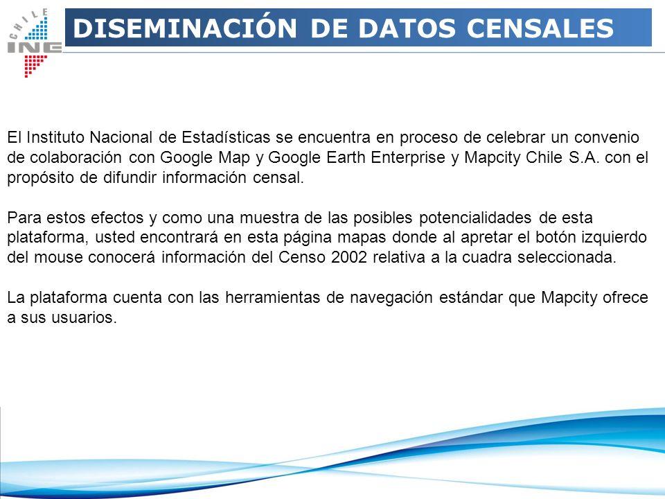 El Instituto Nacional de Estadísticas se encuentra en proceso de celebrar un convenio de colaboración con Google Map y Google Earth Enterprise y Mapci