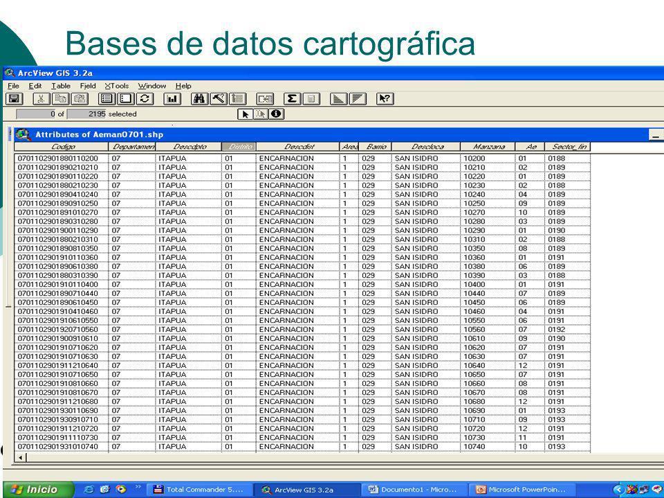 Bases de datos cartográfica