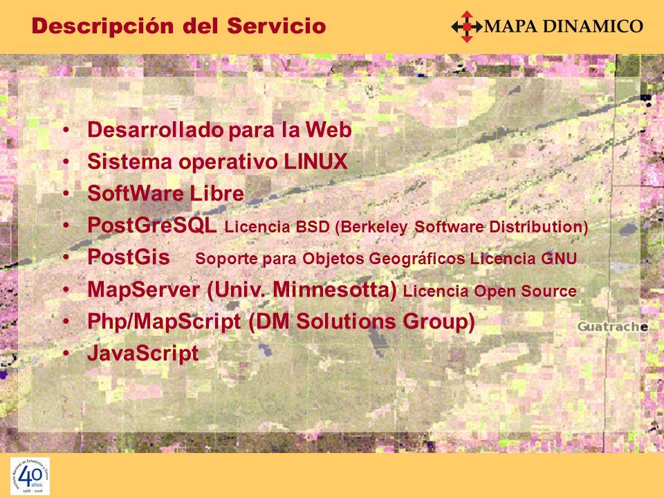 Facilidades del Servicio Búsqueda temática – Prov. La Pampa
