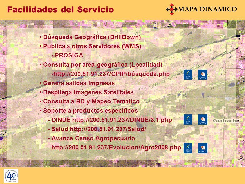 Facilidades del Servicio La Interface es un desarrollo de la Dirección de Informática.