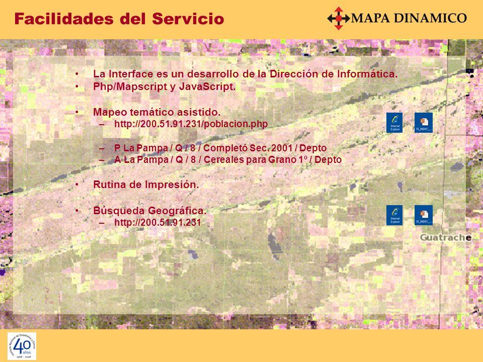 Facilidades del Servicio A La Pampa / Q / 8 / Cereales para Grano 1º