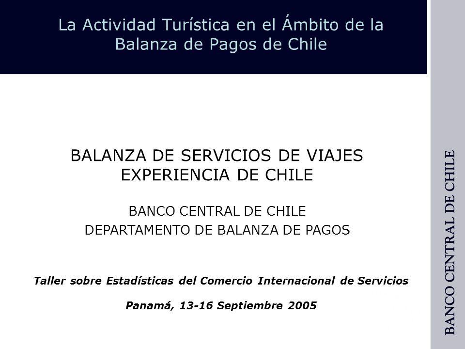 La Actividad Turística en el Ámbito de la Balanza de Pagos de Chile Organización de los Datos » Procesamiento.