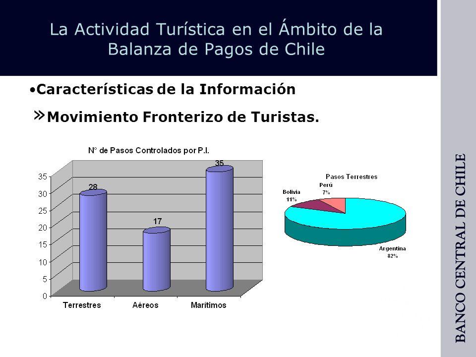 La Actividad Turística en el Ámbito de la Balanza de Pagos de Chile » Estudio del Gasto del Turismo Emisivo y Receptivo.