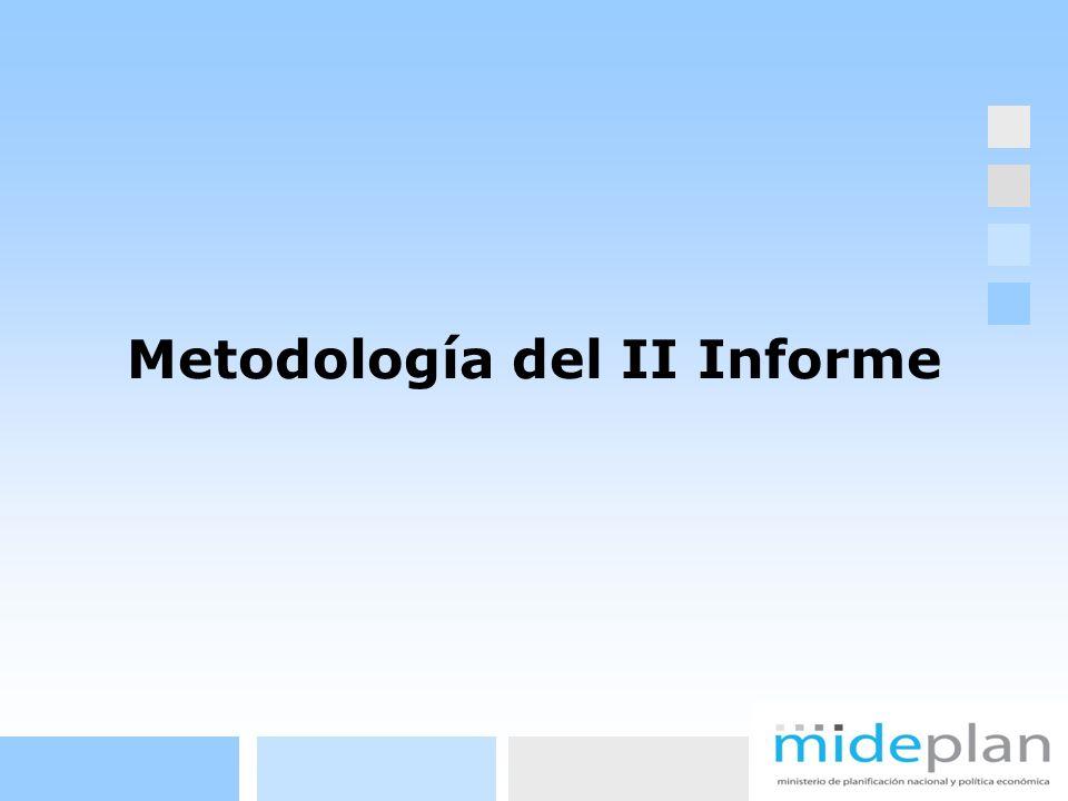 Metodología del II Informe