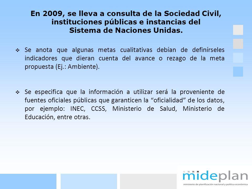 En 2010, MIDEPLAN edita la versión final del Informe.