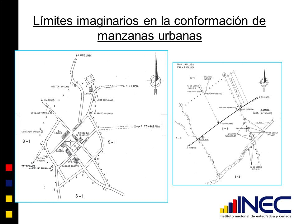 Límites imaginarios en la conformación de manzanas urbanas