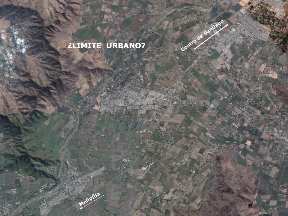 DE CHILELAS ESTADÍSTICAS ZOOM Centro de Santiago Melipilla ¿LIMITE URBANO?