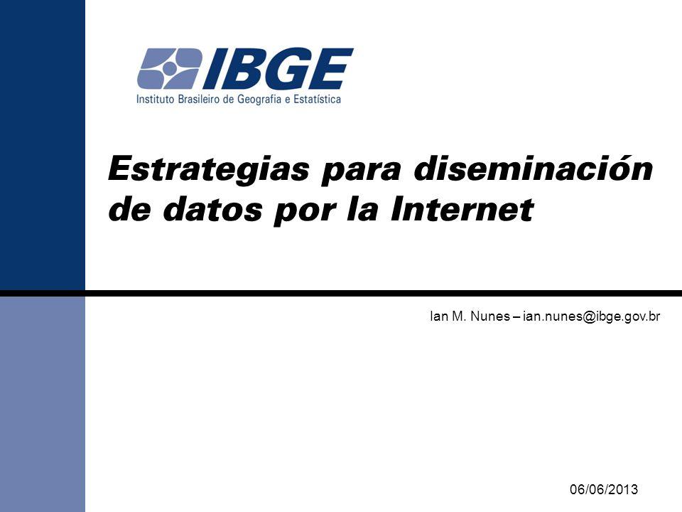 Estrategias para diseminación de datos por la Internet Ian M.