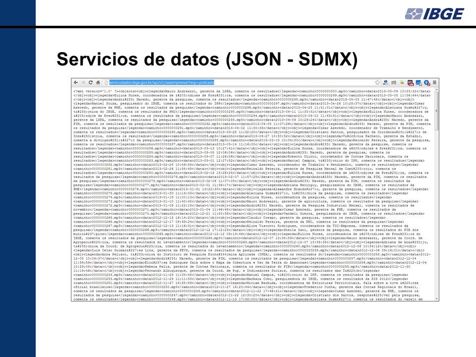 Servicios de datos (JSON - SDMX)