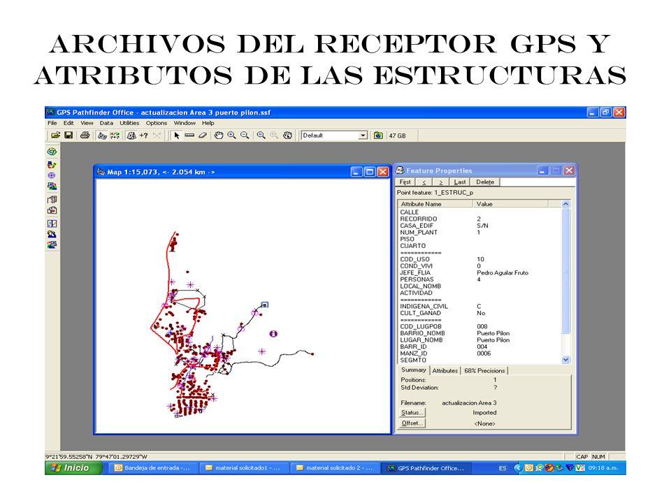 Datos GPS pasados a base de datos geográficas en formato shape y volcados sobre una imagen satelital en color verdadero. Los datos provienen directame
