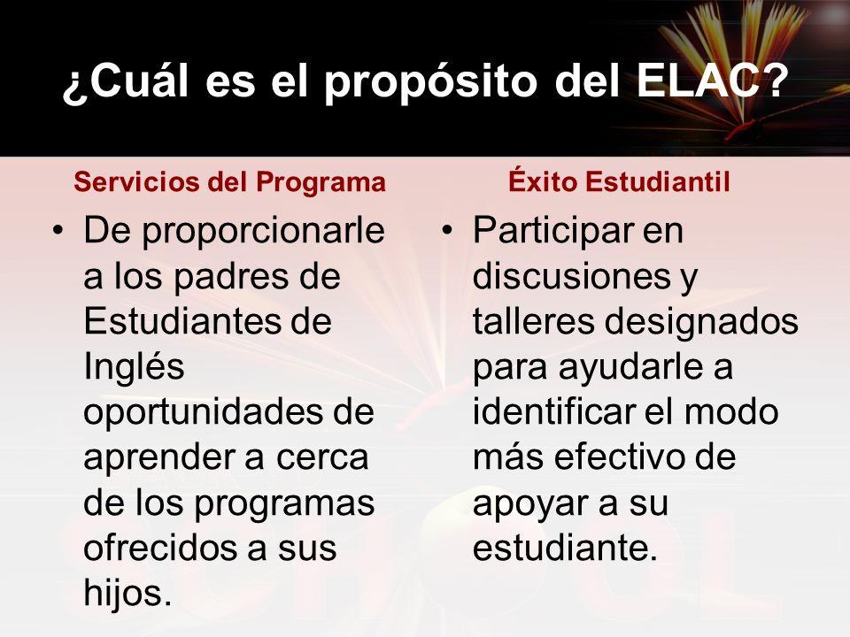 ¿Cuál es el propósito del ELAC.