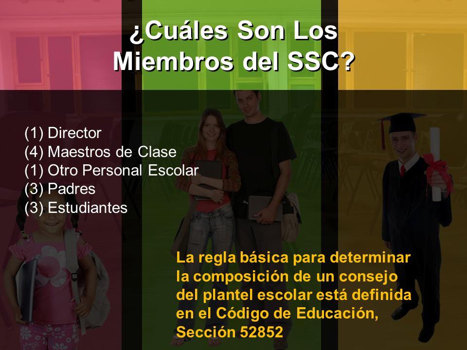 ¿Cuáles Son Los Miembros del SSC.