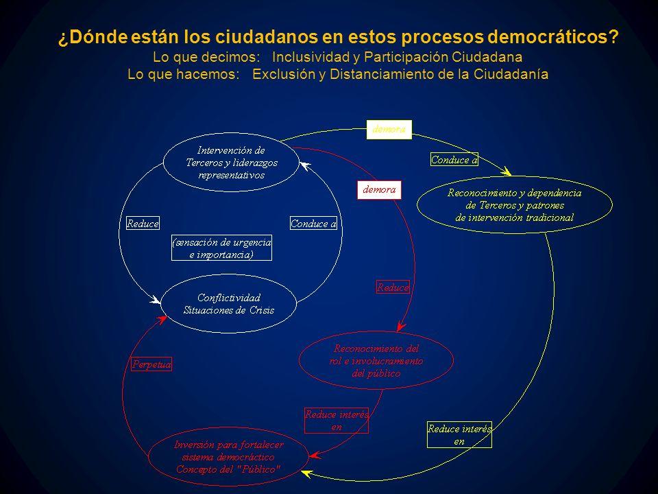 ¿Dónde están los ciudadanos en estos procesos democráticos.