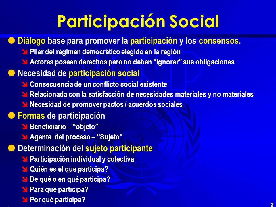 1 El Papel de los diálogos en la Política Social Contribución al análisis y diálogo Santiago de Chile, 30 de Mayo 2002 Freddy Justiniano.