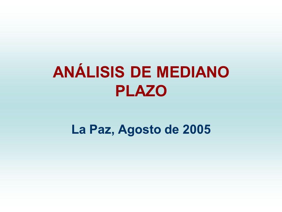 ANÁLISIS DE MEDIANO PLAZO La Paz, Agosto de 2005