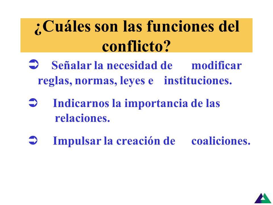 El conflicto es… Normal Inevitable Necesario y Puede entonces mejorar o empeorar las relaciones