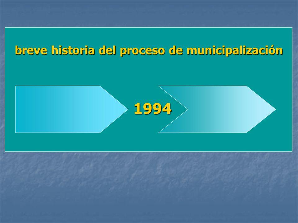 1994 breve historia del proceso de municipalización