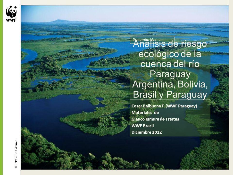 Análisis de riesgo ecológico de la cuenca del río Paraguay Argentina, Bolivia, Brasil y Paraguay Cesar Balbuena F. (WWF Paraguay) Materiales de Glauco