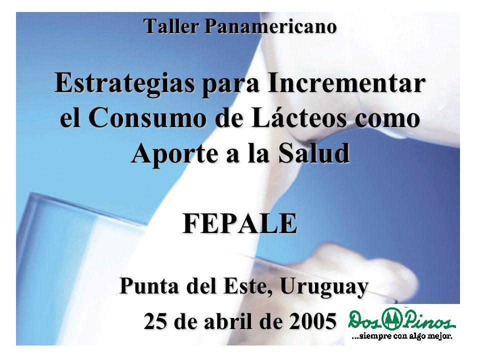 Taller Panamericano Estrategias para Incrementar el Consumo de Lácteos como Aporte a la Salud FEPALE Punta del Este, Uruguay 25 de abril de 2005