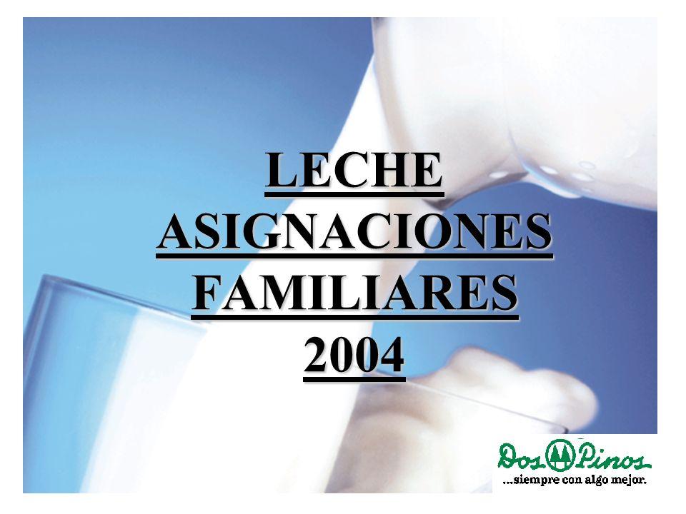 LECHE ASIGNACIONES FAMILIARES 2004