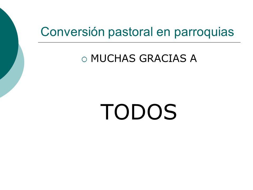 Conversión pastoral en parroquias MUCHAS GRACIAS A TODOS