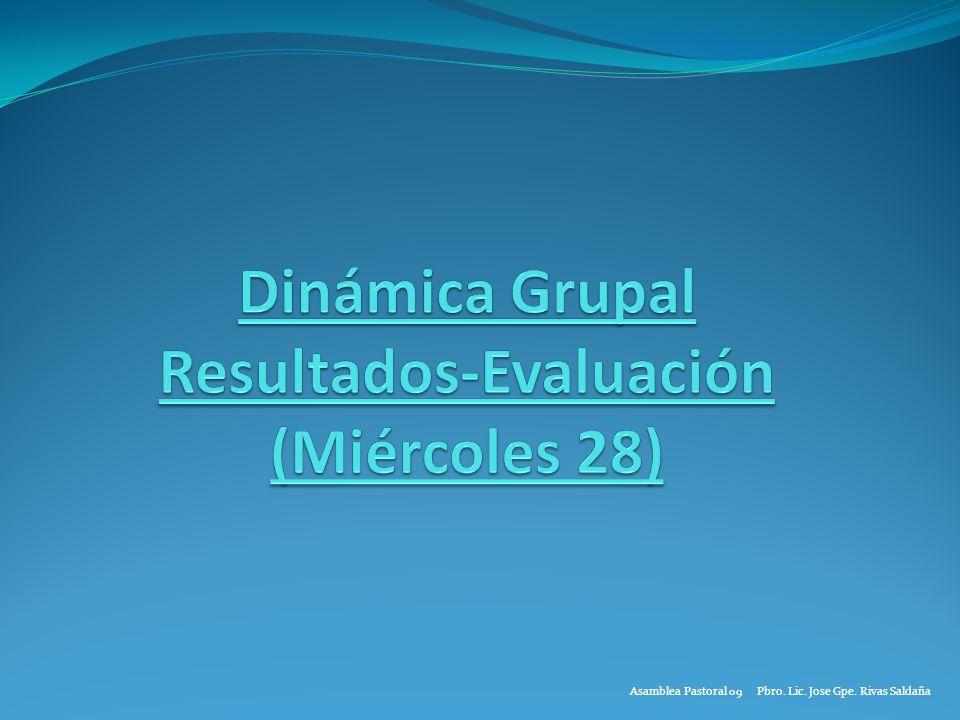Asamblea Pastoral 09 Pbro. Lic. Jose Gpe. Rivas Saldaña