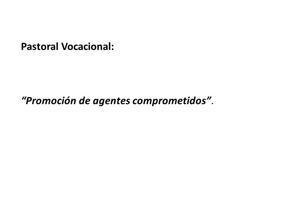 Pastoral Vocacional: Promoción de agentes comprometidos.