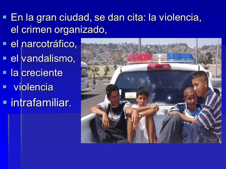 En la gran ciudad, se dan cita: la violencia, el crimen organizado, En la gran ciudad, se dan cita: la violencia, el crimen organizado, el narcotráfic