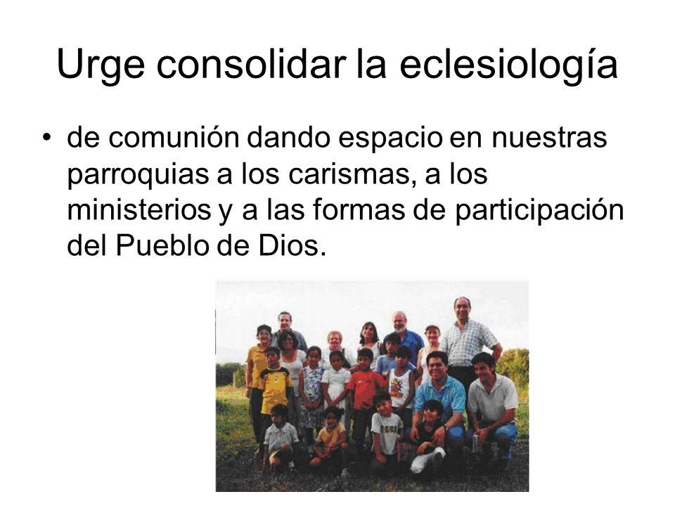 Urge consolidar la eclesiología de comunión dando espacio en nuestras parroquias a los carismas, a los ministerios y a las formas de participación del