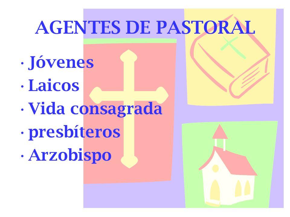 AGENTES DE PASTORAL Jóvenes Laicos Vida consagrada presbíteros Arzobispo