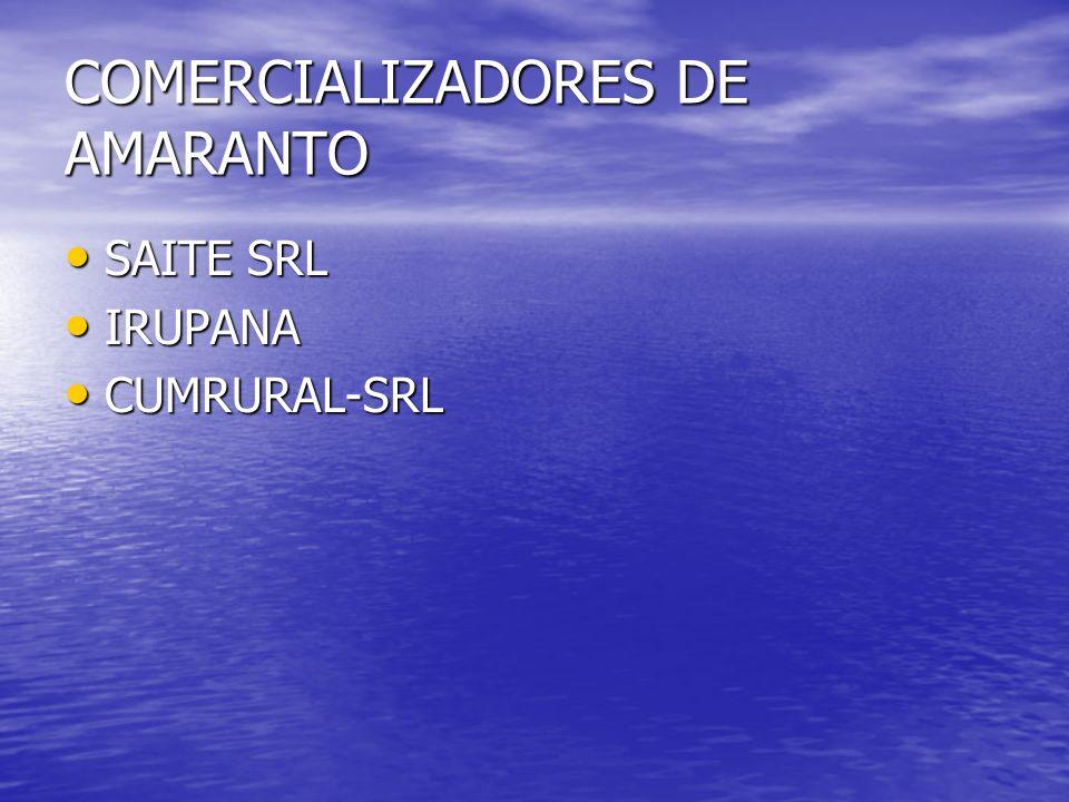 COMERCIALIZADORES DE AMARANTO SAITE SRL SAITE SRL IRUPANA IRUPANA CUMRURAL-SRL CUMRURAL-SRL